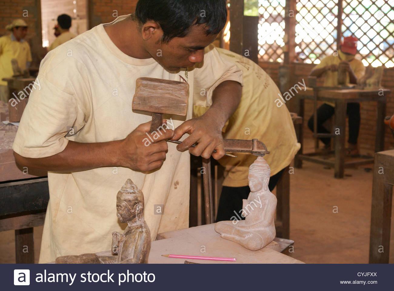 Cambodge, Siem Reap, Angkor (école de formation des artisans ...
