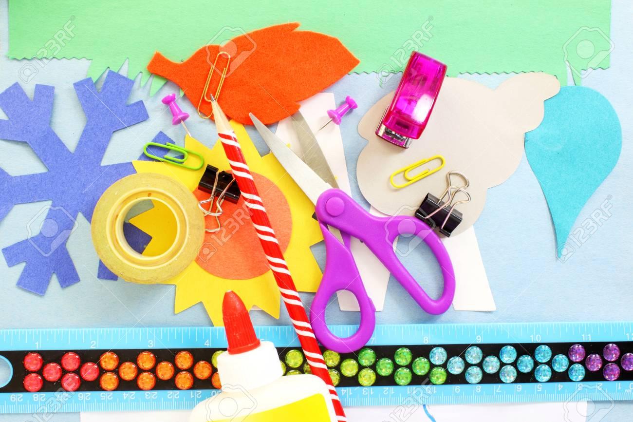 Outils de fournitures d'artisanat pour le papier de l'école des enfants artisanat