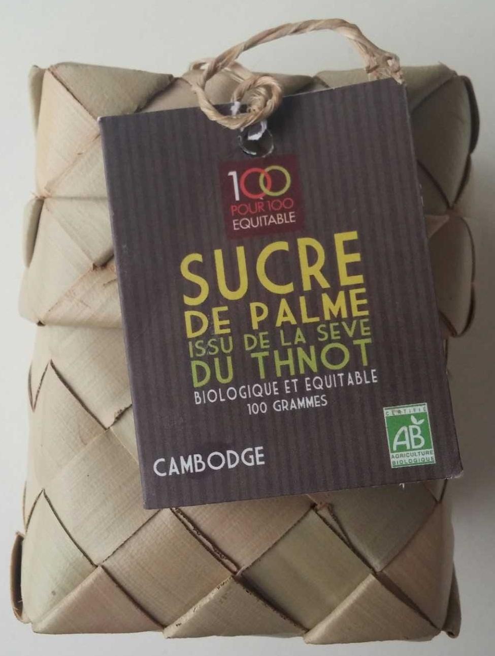Sucre de palme - 100 pour 100 équitable - 100 g