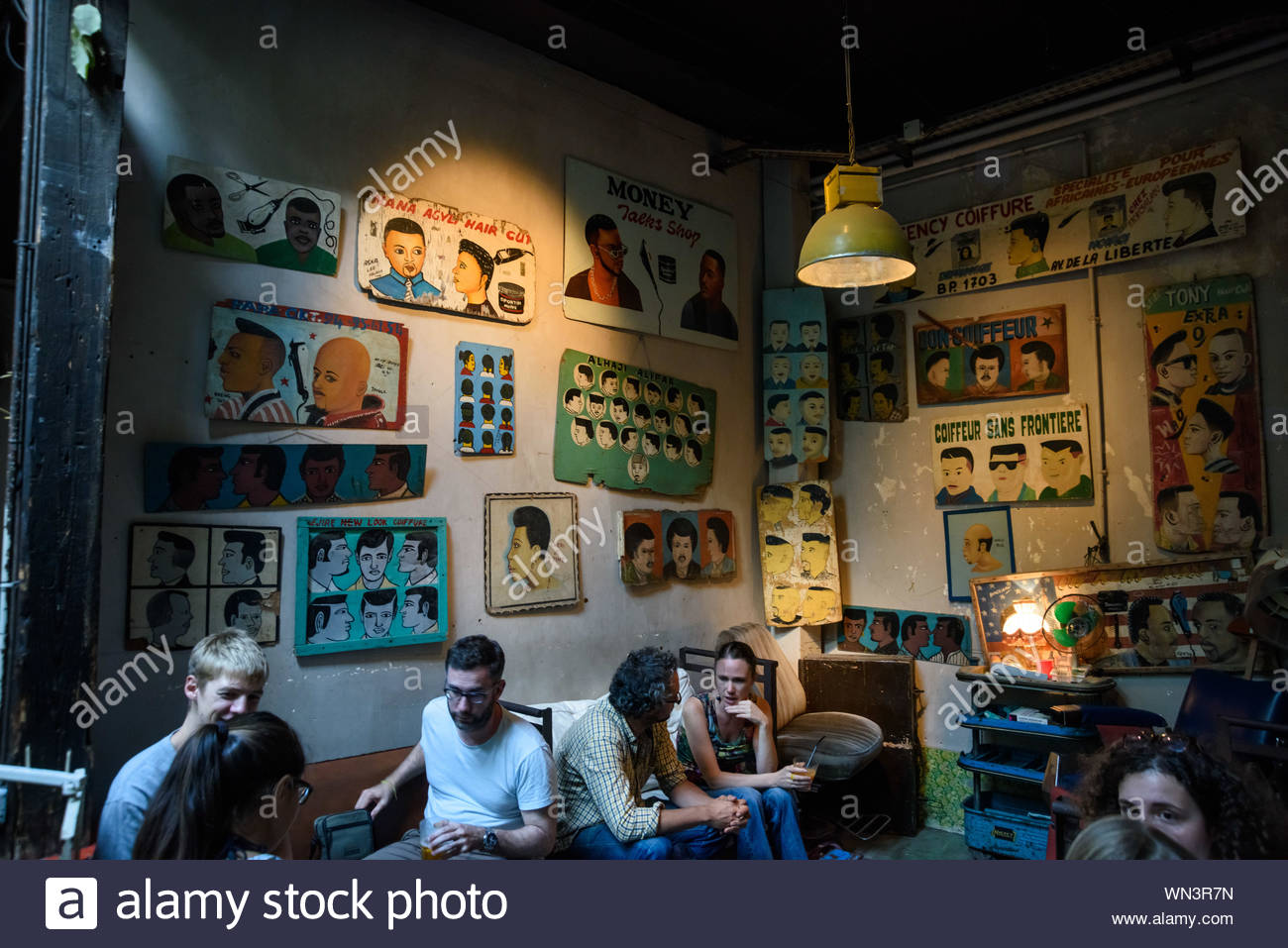 Paris, Bar-Restaurant Le Comptoir General Stock Photo ...