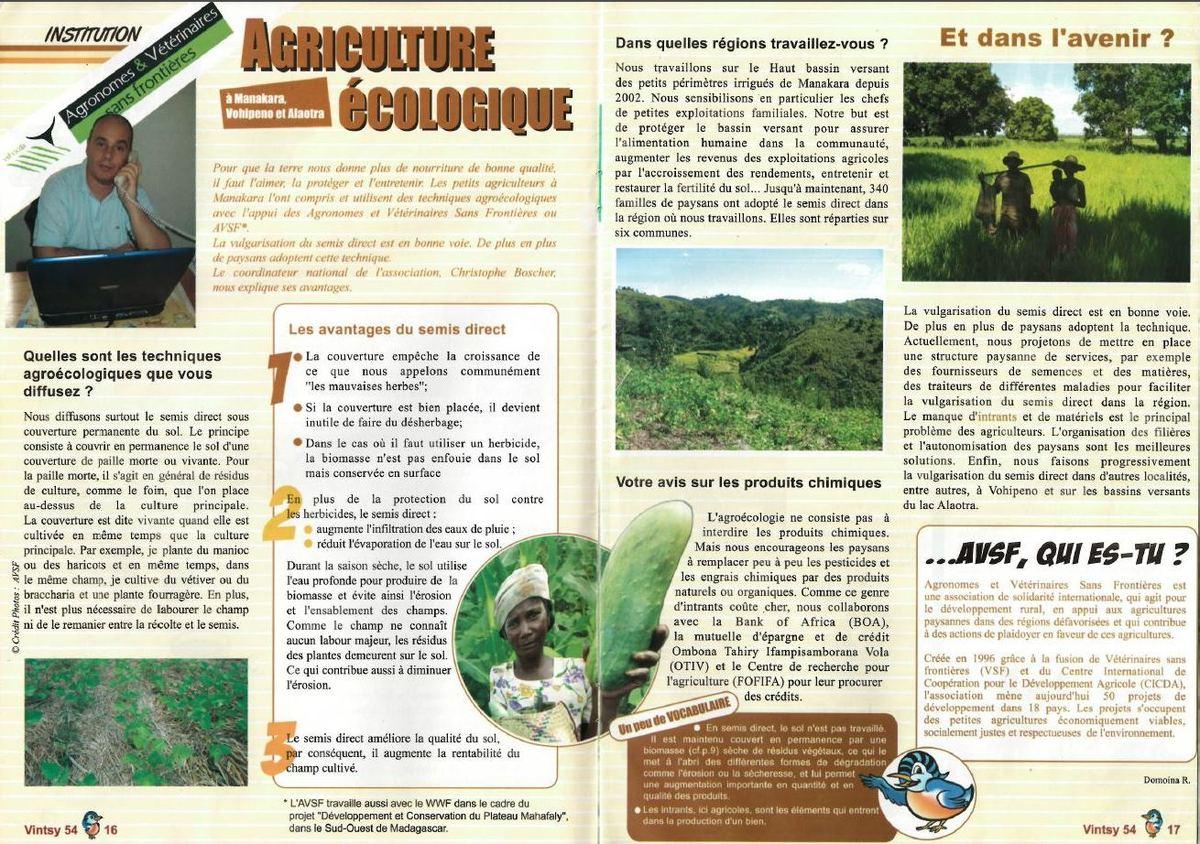 L'agriculture écologique selon AVSF, Agronomes ...
