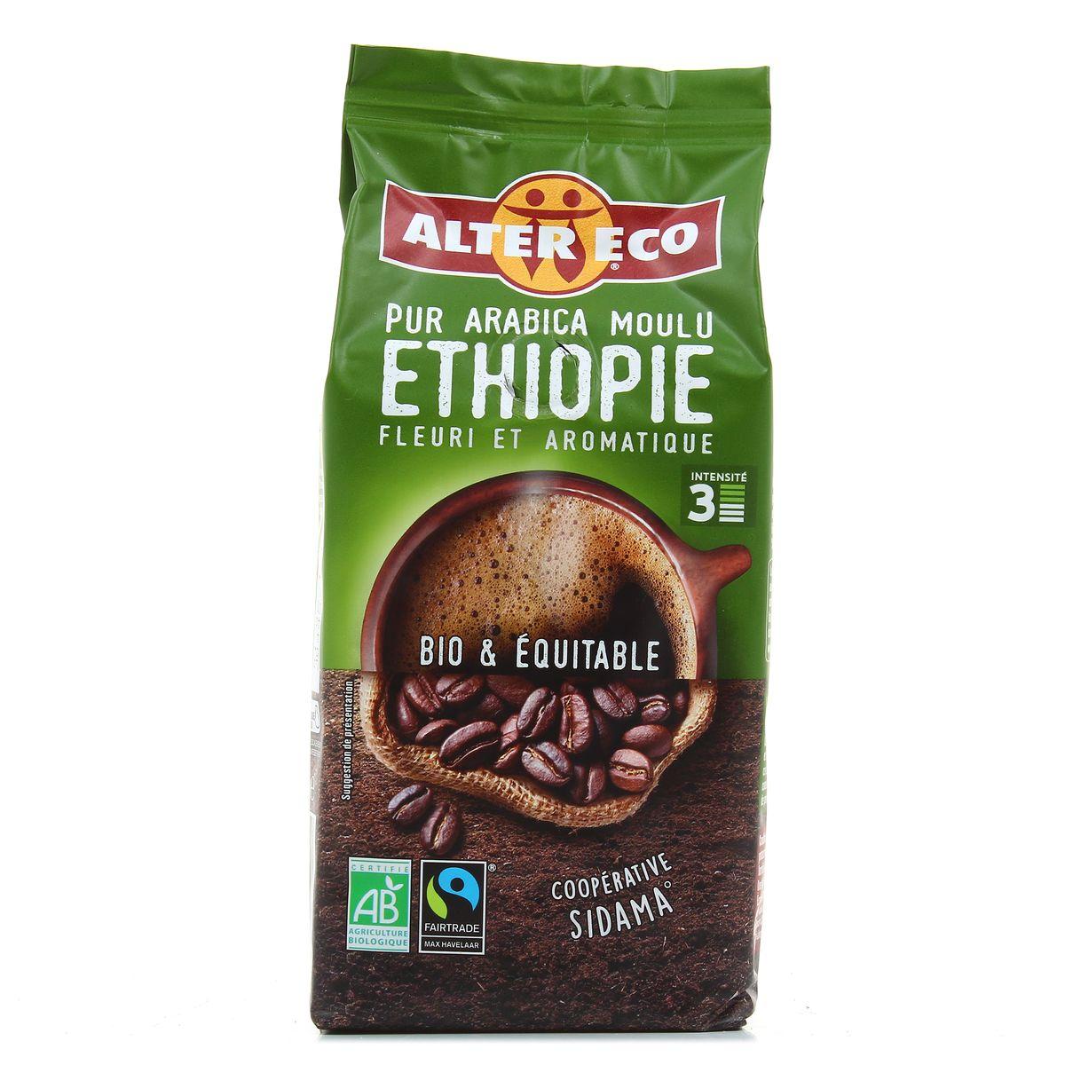 Alter Eco - Commerce Equitable Café pur arabica moulu d'Ethiopie bio, 260g