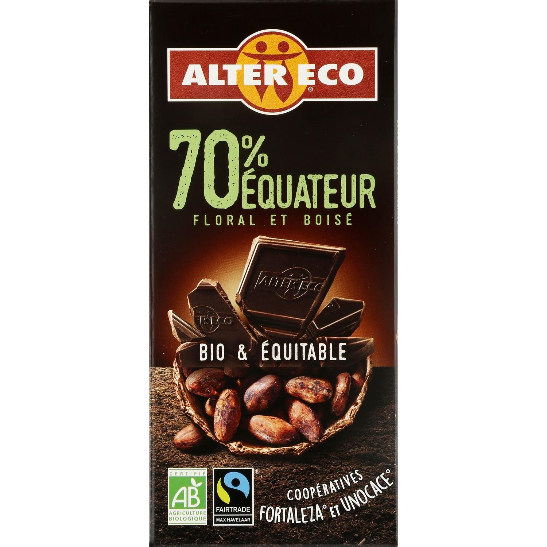 Chocolat bio noir 70% ALTER ECO : la tablette de 100 g à Prix Carrefour