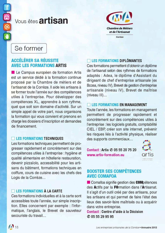 Annuaire de l'artisanat 2012 by Chambre de métiers et de l ...