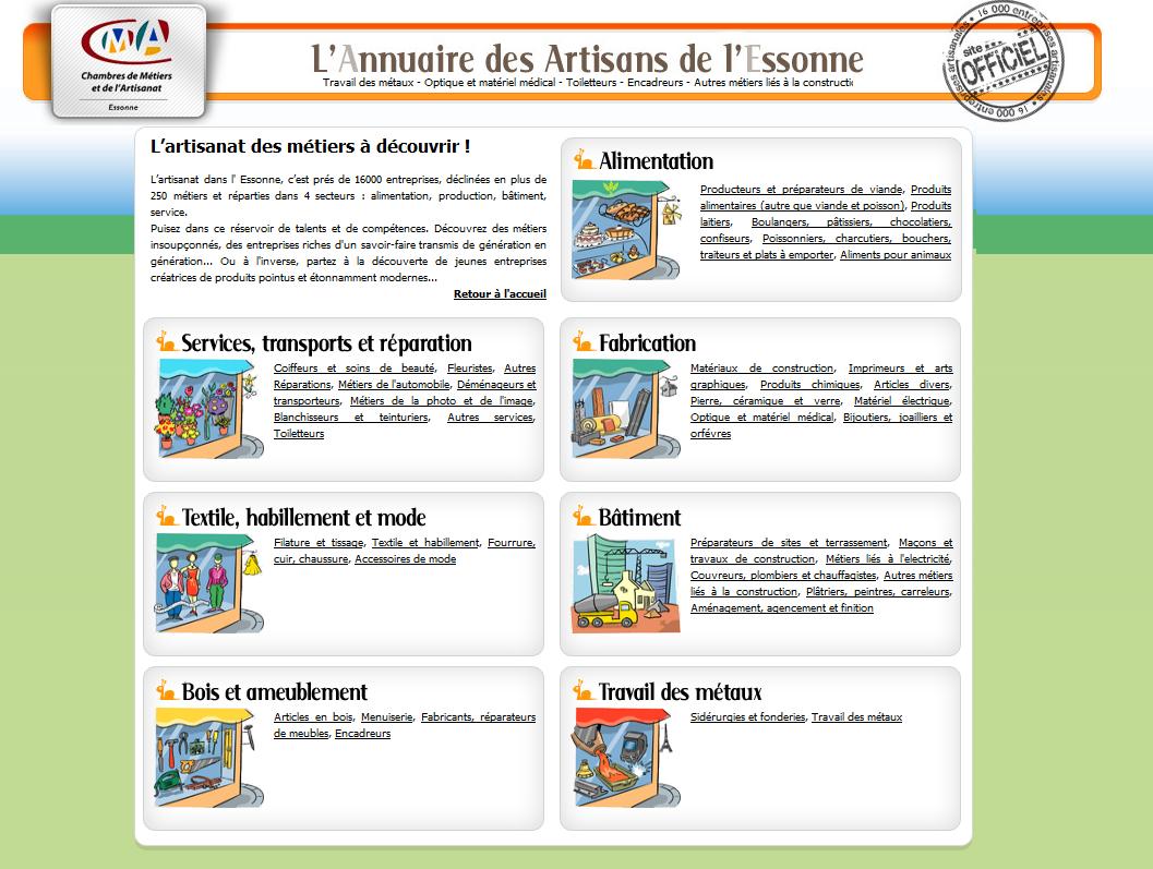L'annuaire des artisans de l'Essonne   Initiatives locales