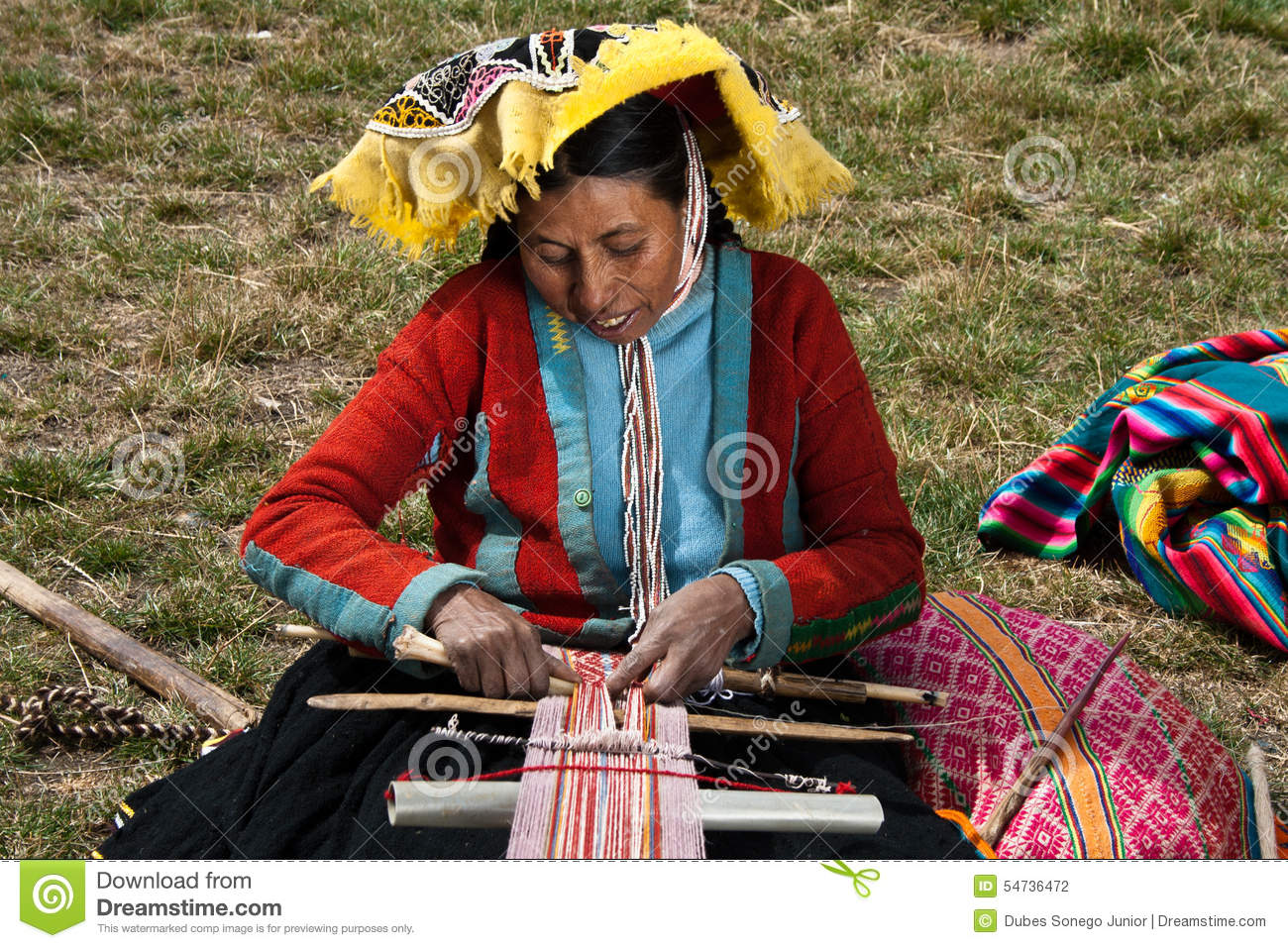 Artisan rural péruvien photographie éditorial. Image du ...