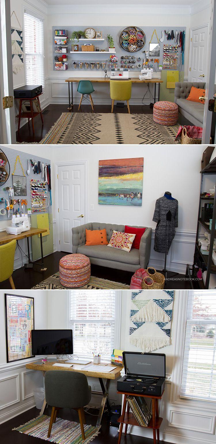 bureau à domicile créative - une salle d'artisanat - salle ...