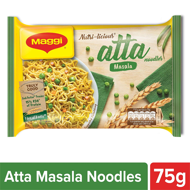 Maggi Nutri-Licious Malasa Atta Noodles, 75 grams pack ...