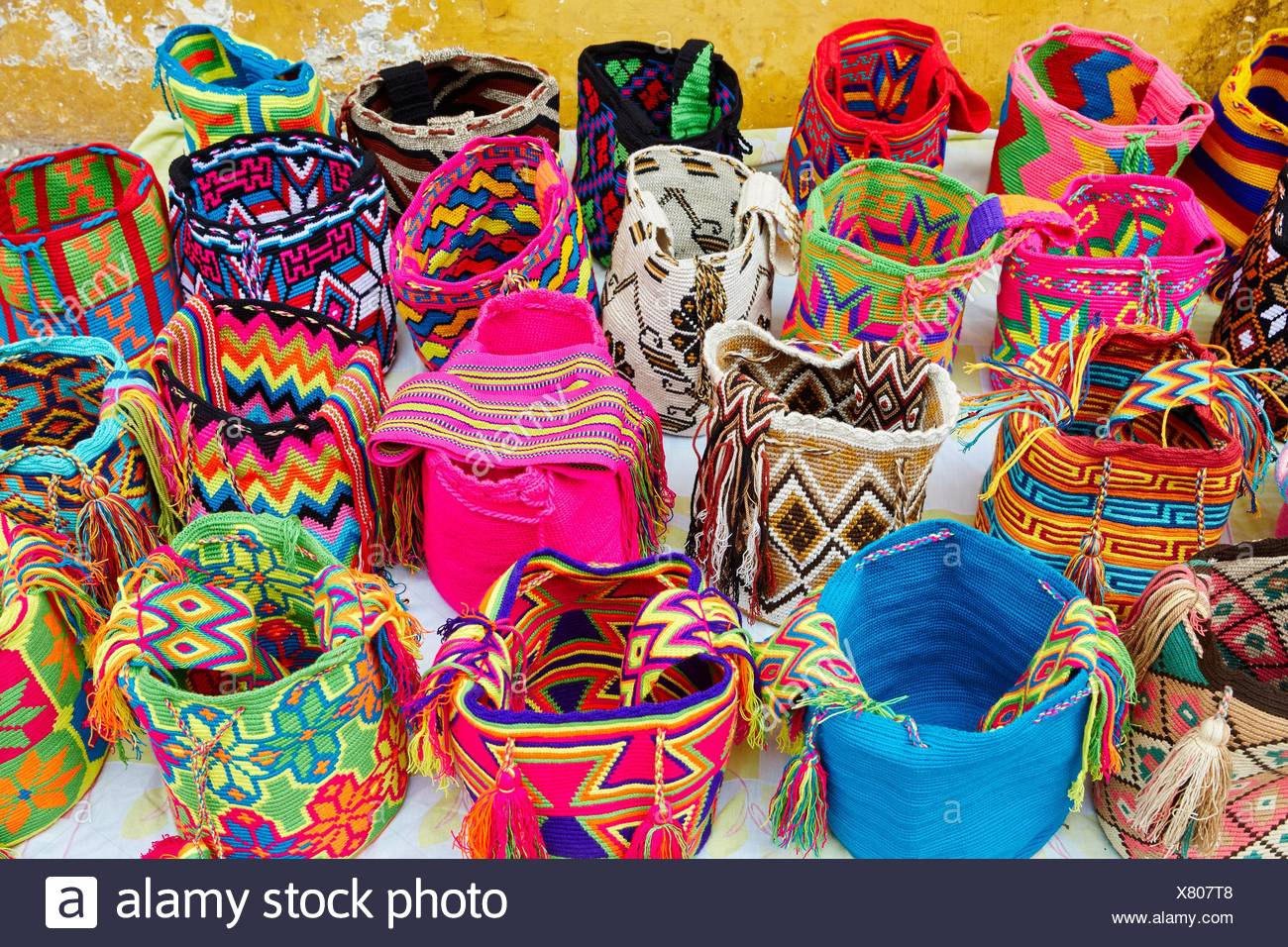 L'artisanat, Cartagena de Indias, Bolivar, Colombie, Amérique du Sud ...