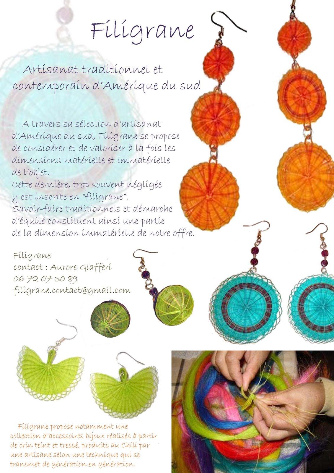 Filigrane, artisanat traditionnel et contemporain d'Amérique du Sud ...