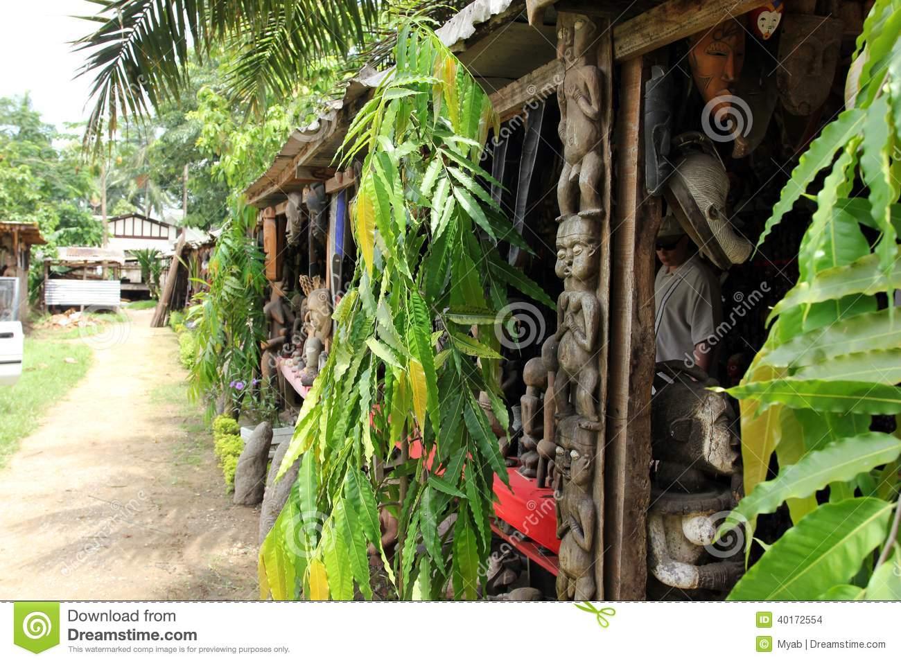 Marché D'artisanat, Douala, Cameroun Photo stock - Image du ...