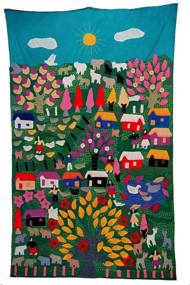 Artisanat colombien tissu par Dominique GIET sur L'Internaute