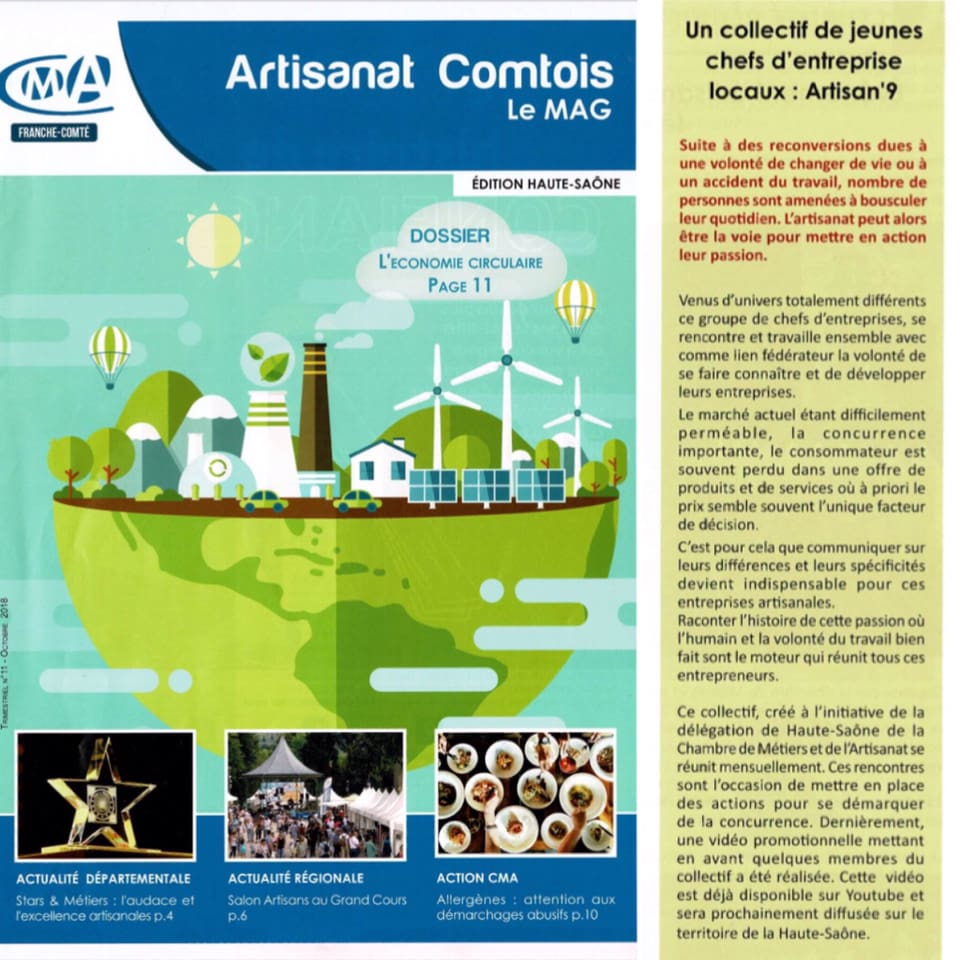 Artisanat Comtois le MAG parle du collectif Artisan'9 sur ...