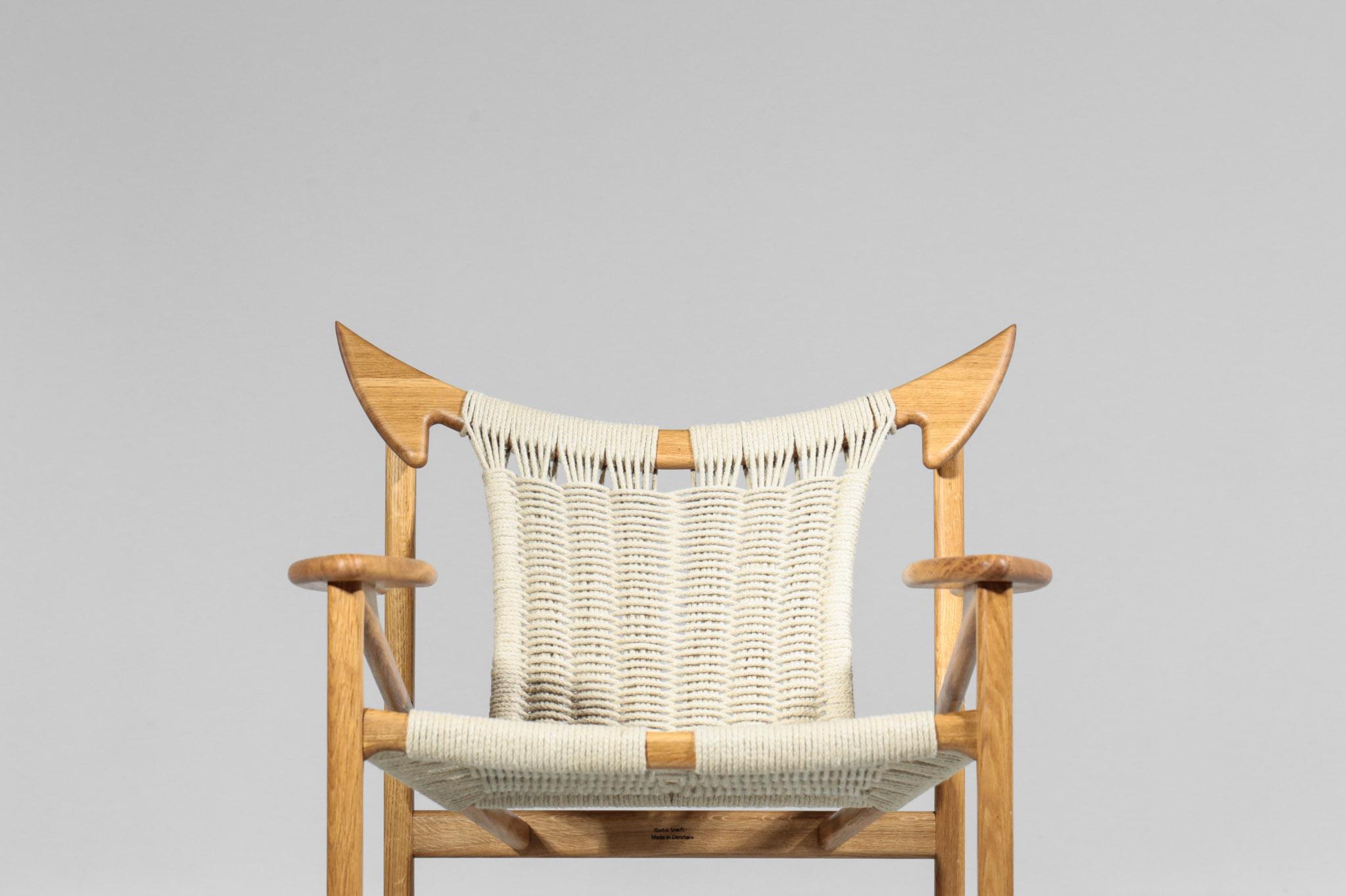 Paire de fauteuils 'taureau » artisanales danois moderne scandinave ...