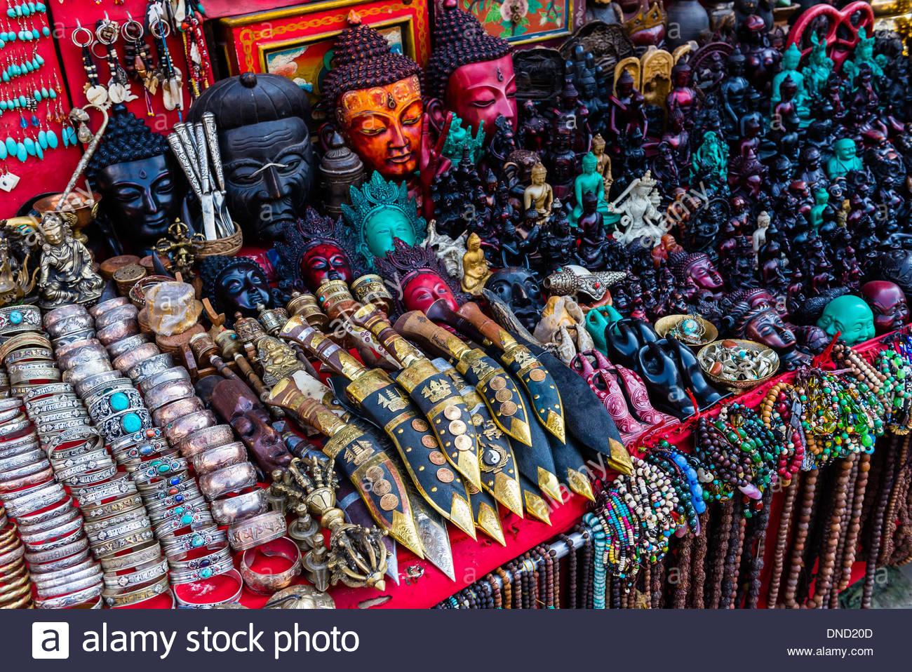 Artisanat, Katmandou, Népal Banque D'Images, Photo Stock ...