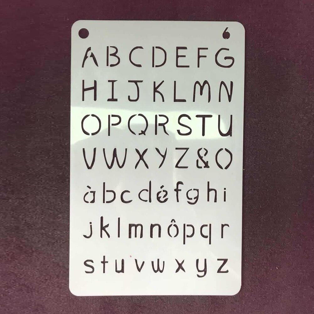 €3.86 20% de réduction|12 pièces écriture pratique cahier artisanat estampage modèle pochoir ensemble Scrapbooking anglais Alphabet écriture ...