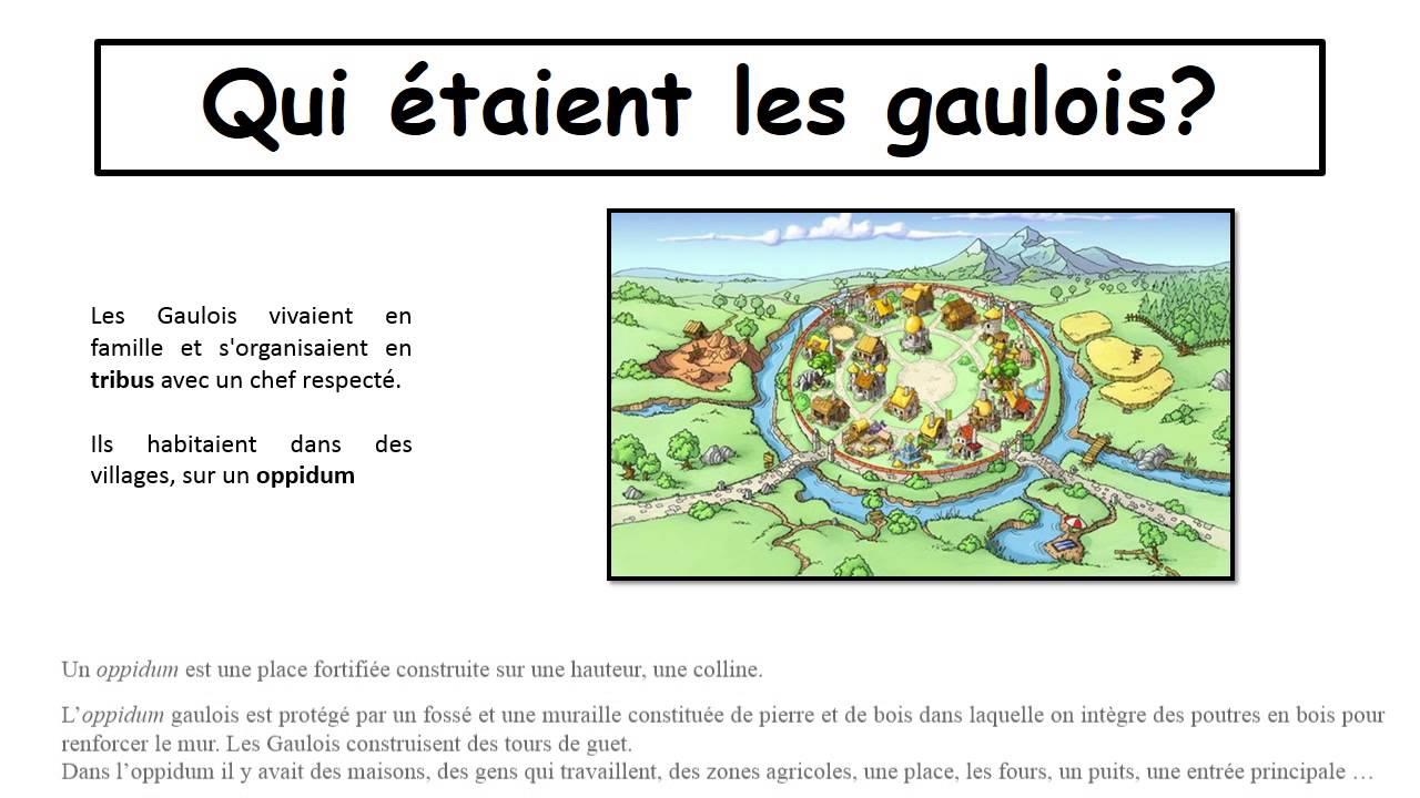 Vie des gaulois – Ce2 - Antiquité - Diaporama – TBI