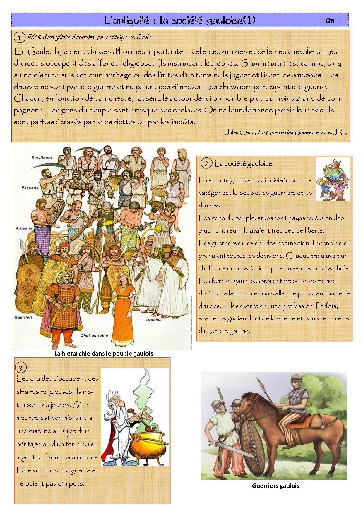 Séance sur les gaulois celtiques: hiérarchie et habillement ...