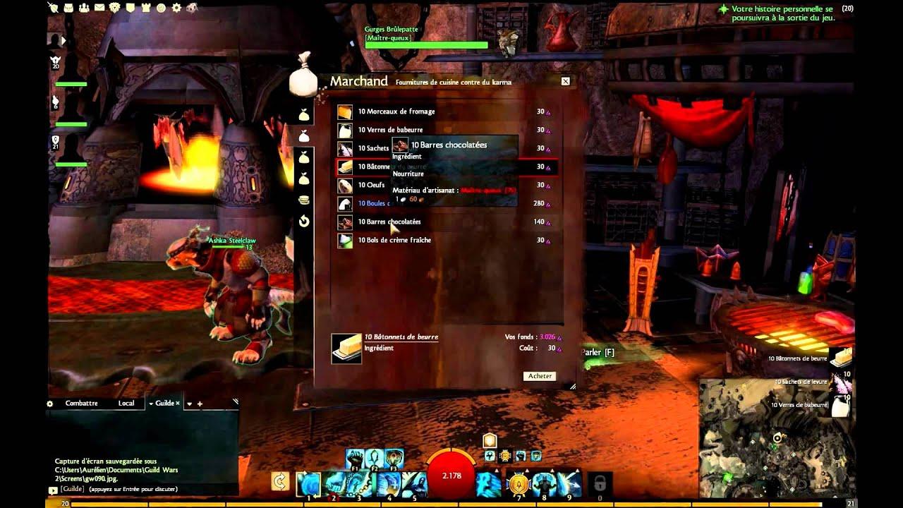 Guild Wars 2 - L'artisanat et le métier de cuisinier (maître-queux).avi