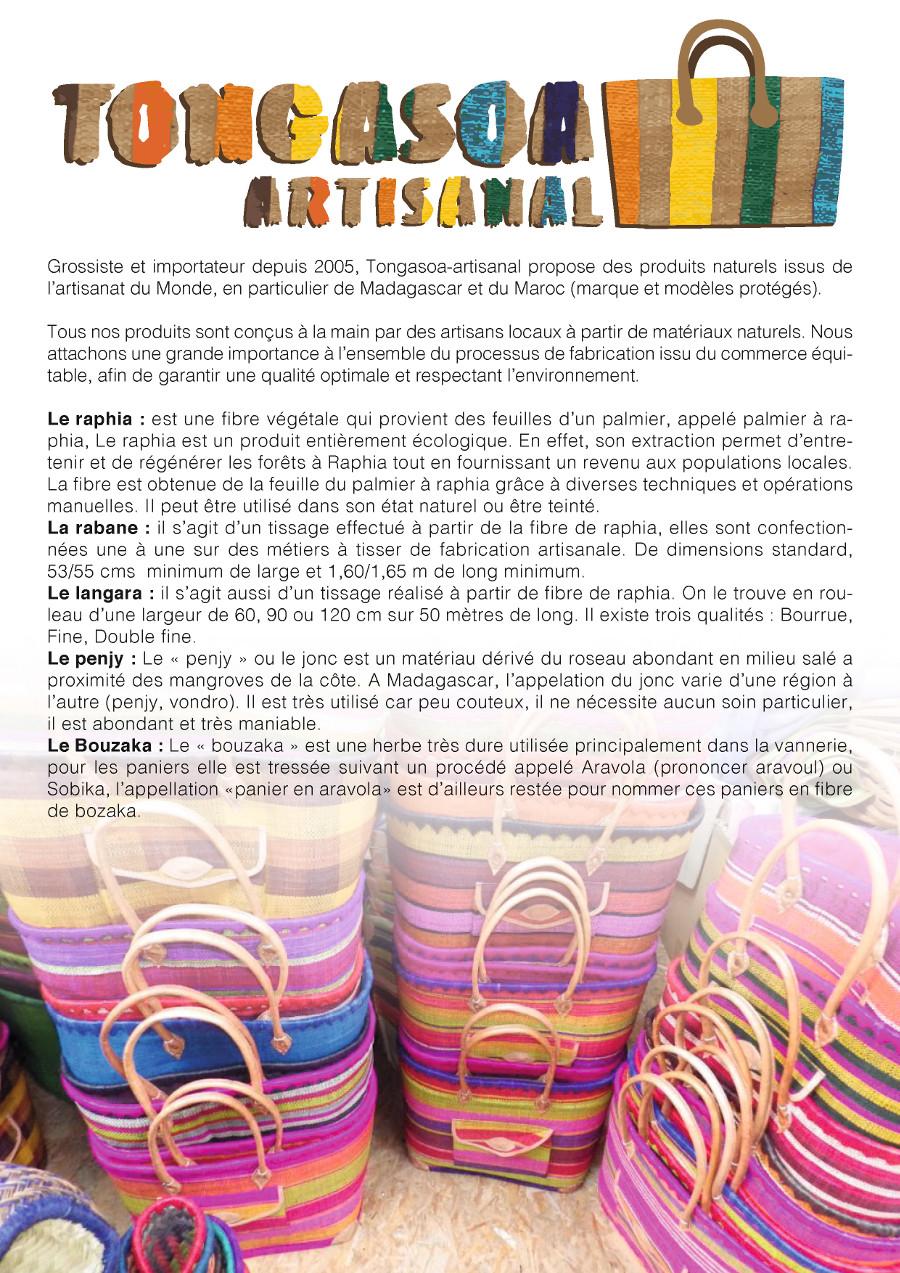 Les artisans : Fabrication artisanale cuir végétal (raphia, rabane ...
