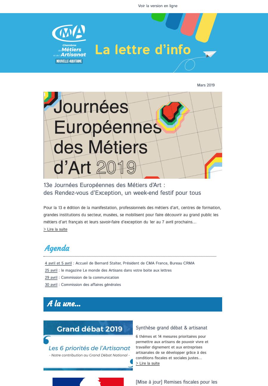 La lettre d'info de l'artisanat en Nouvelle-Aquitaine vient ...