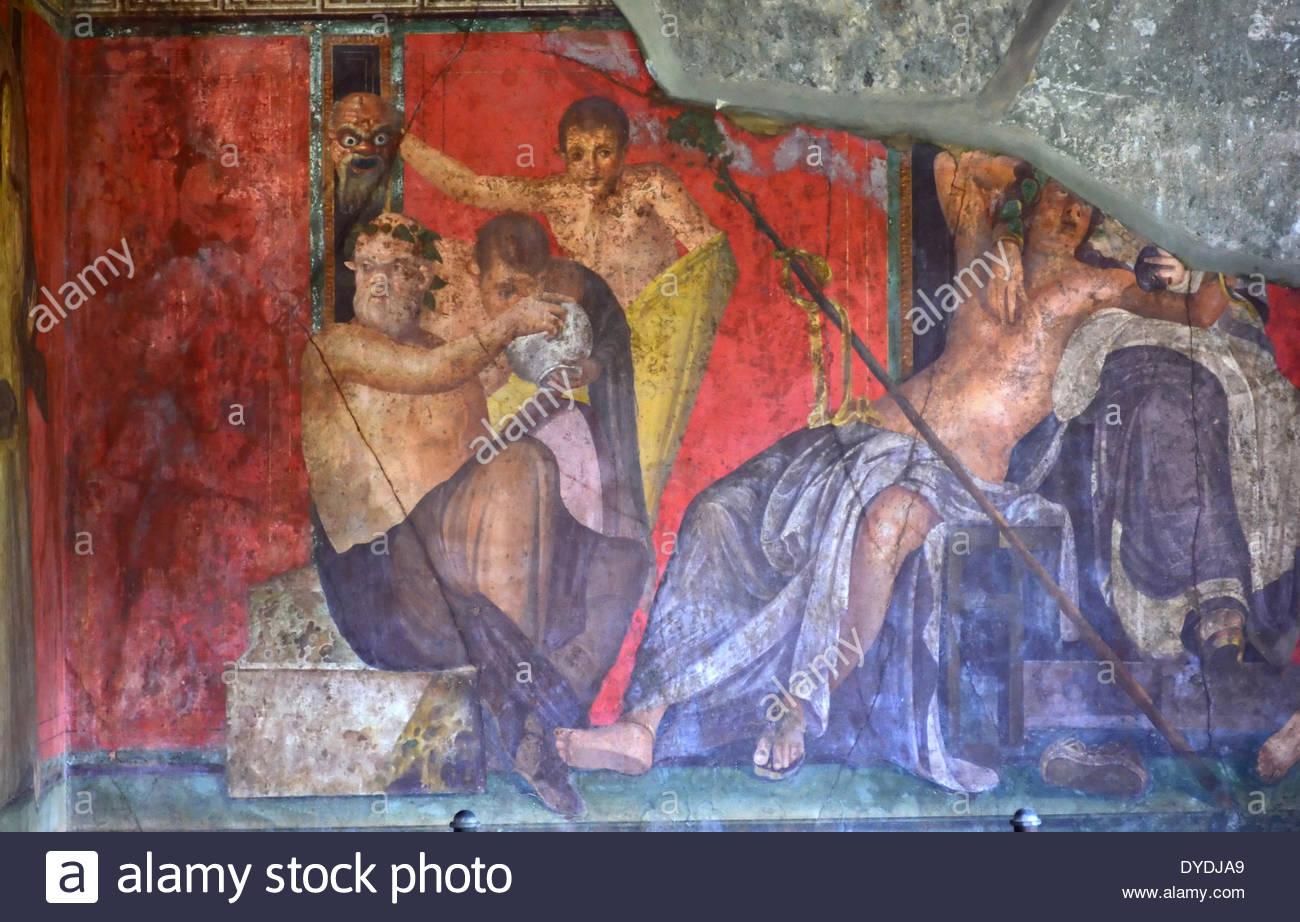 Rome Italie Europe Rome antique fresque plâtre peinture ...