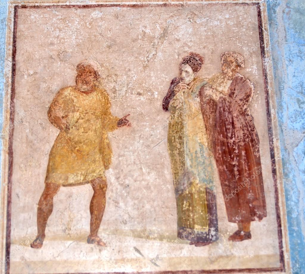 Fresque romaine antique — Photo éditoriale © mountainpix ...