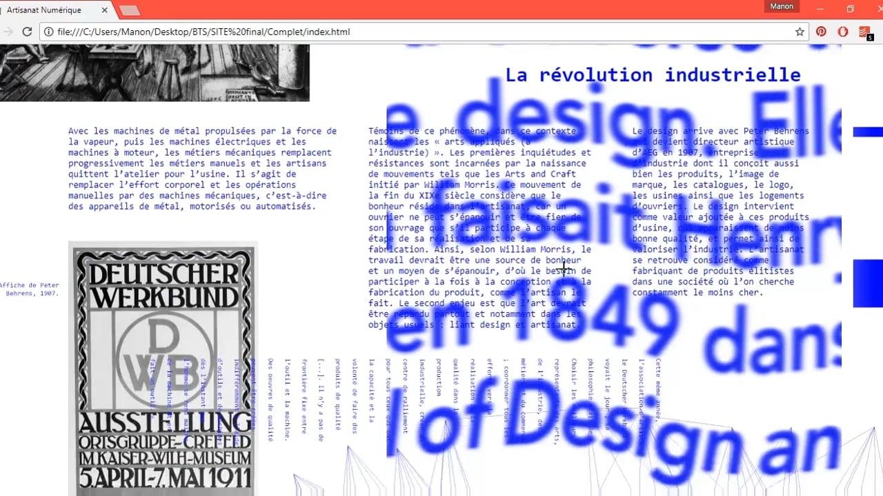 Artisanat numérique : web