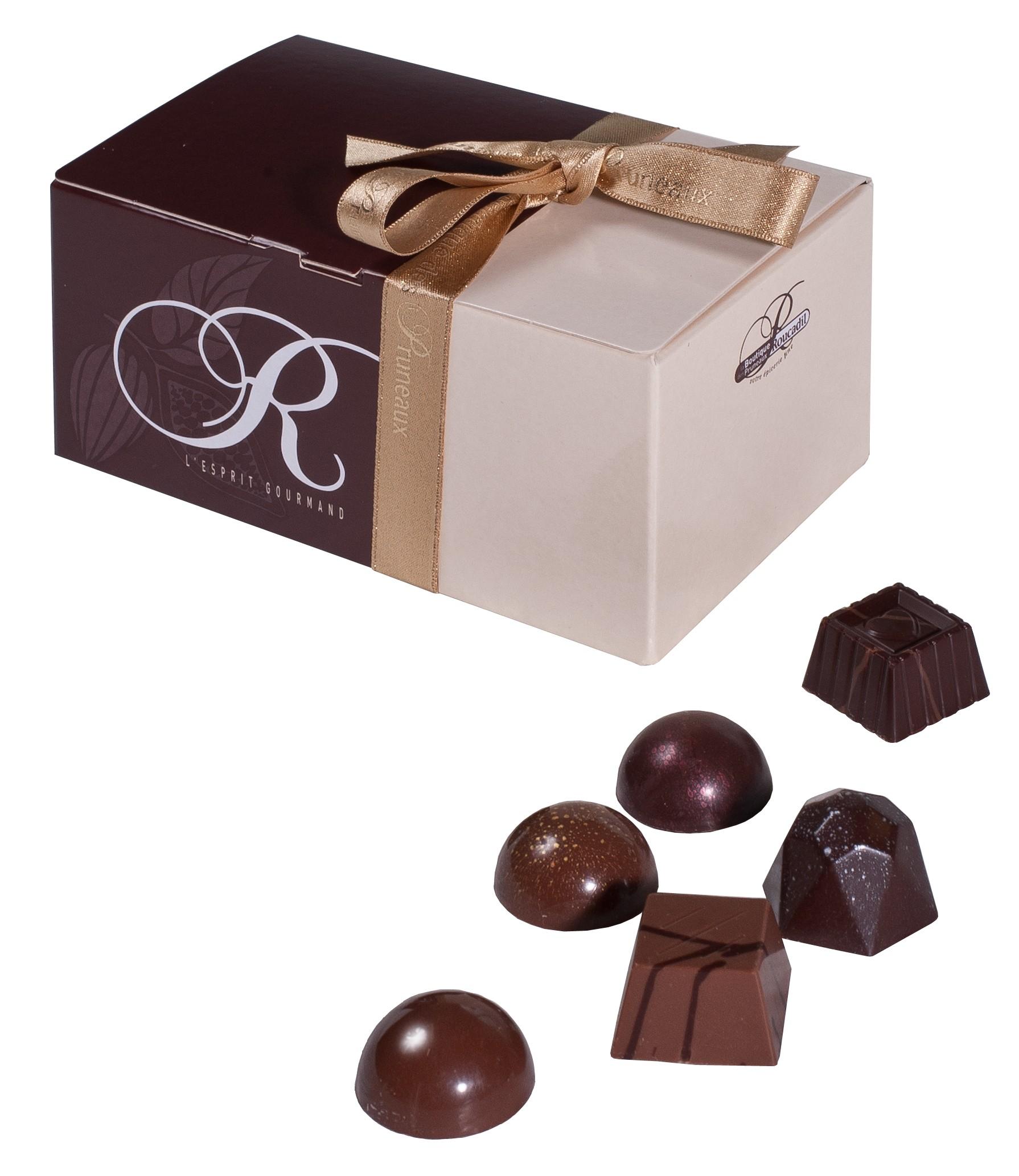 Chocolats fins - ballotin 250g - la boutique des pruneaux