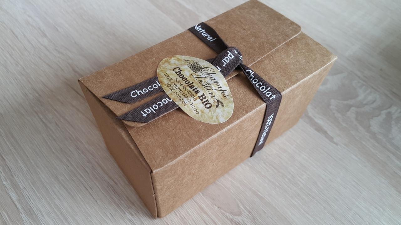 Lot de 5 ballotins kraft (210 g de chocolats bio par ballotin ...