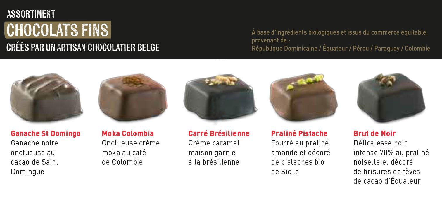 Le ballotin de chocolats fins - 200gr
