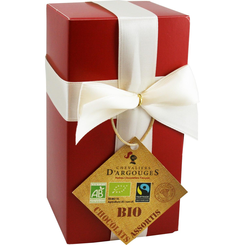Ballotin plaisirs chocolats assortis Bio LES CHEVALIERS D ARGOUGES : la boite de 175g à Prix Carrefour
