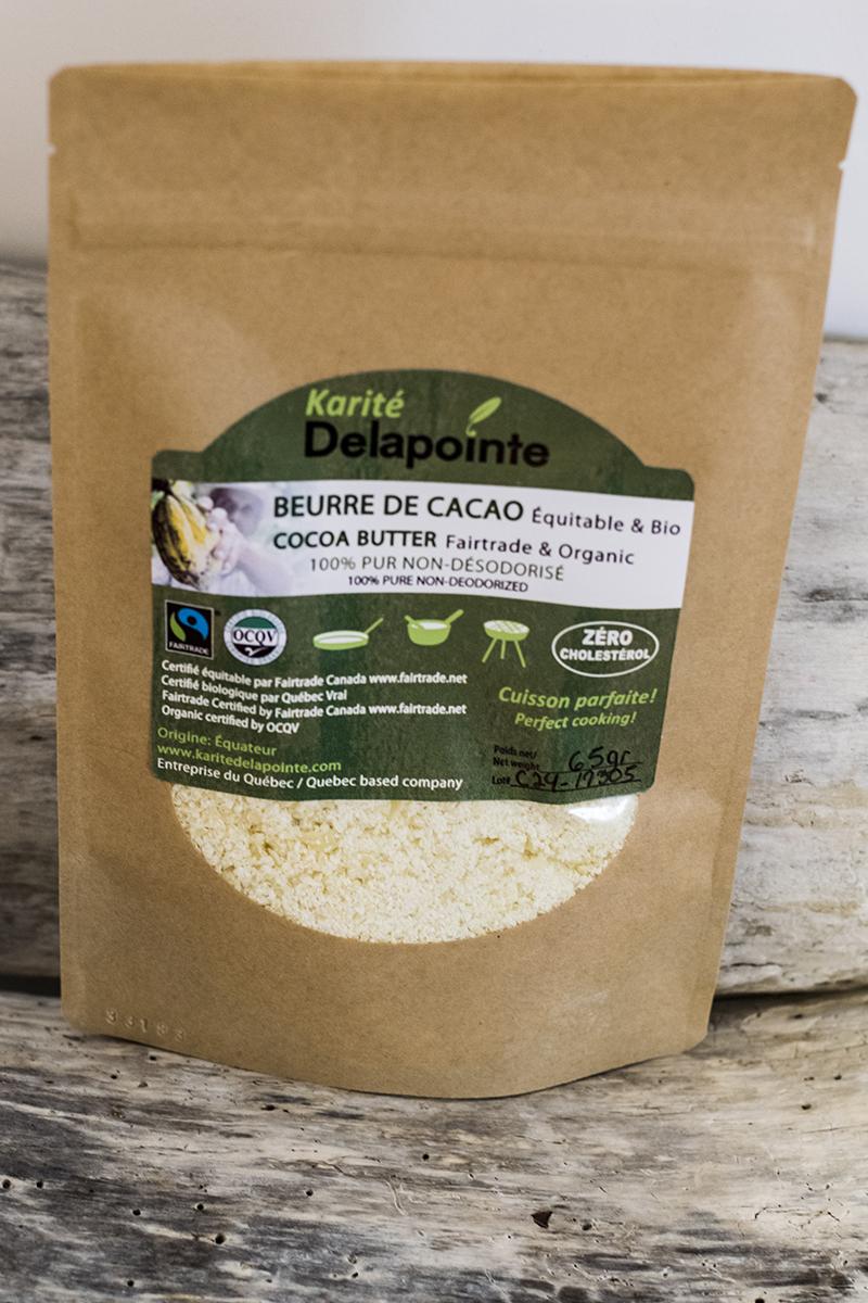 Beurre de CACAO Équitable & Bio en FLOCONS