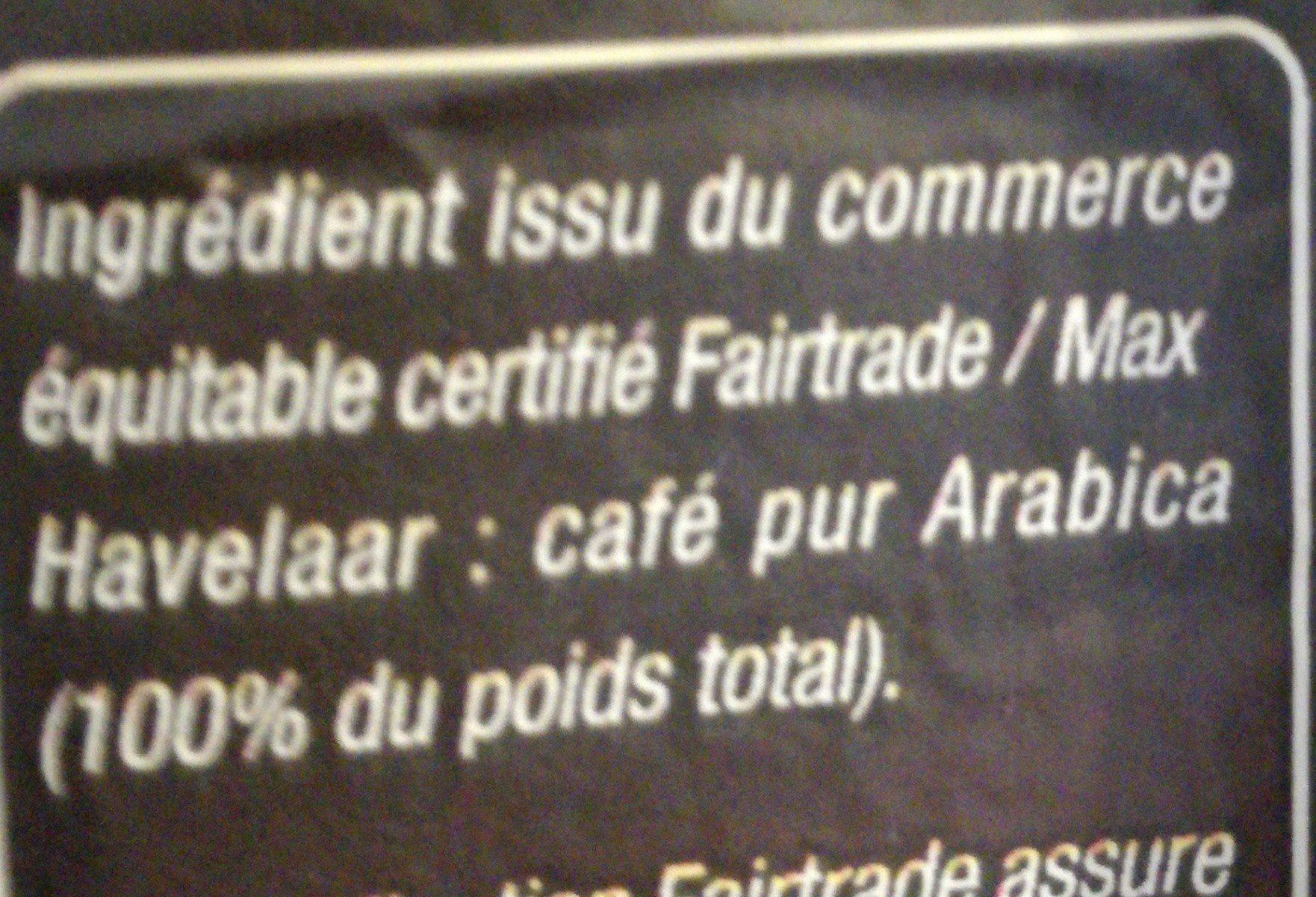 Café Moulu Arabica Max Havelaar Issu Du Commerce équitable ...