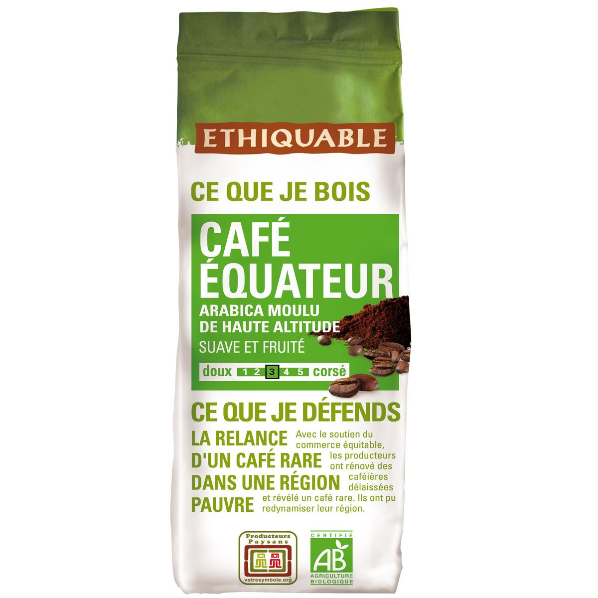 Ethiquable Café équateur, bio, 250g : houra.fr