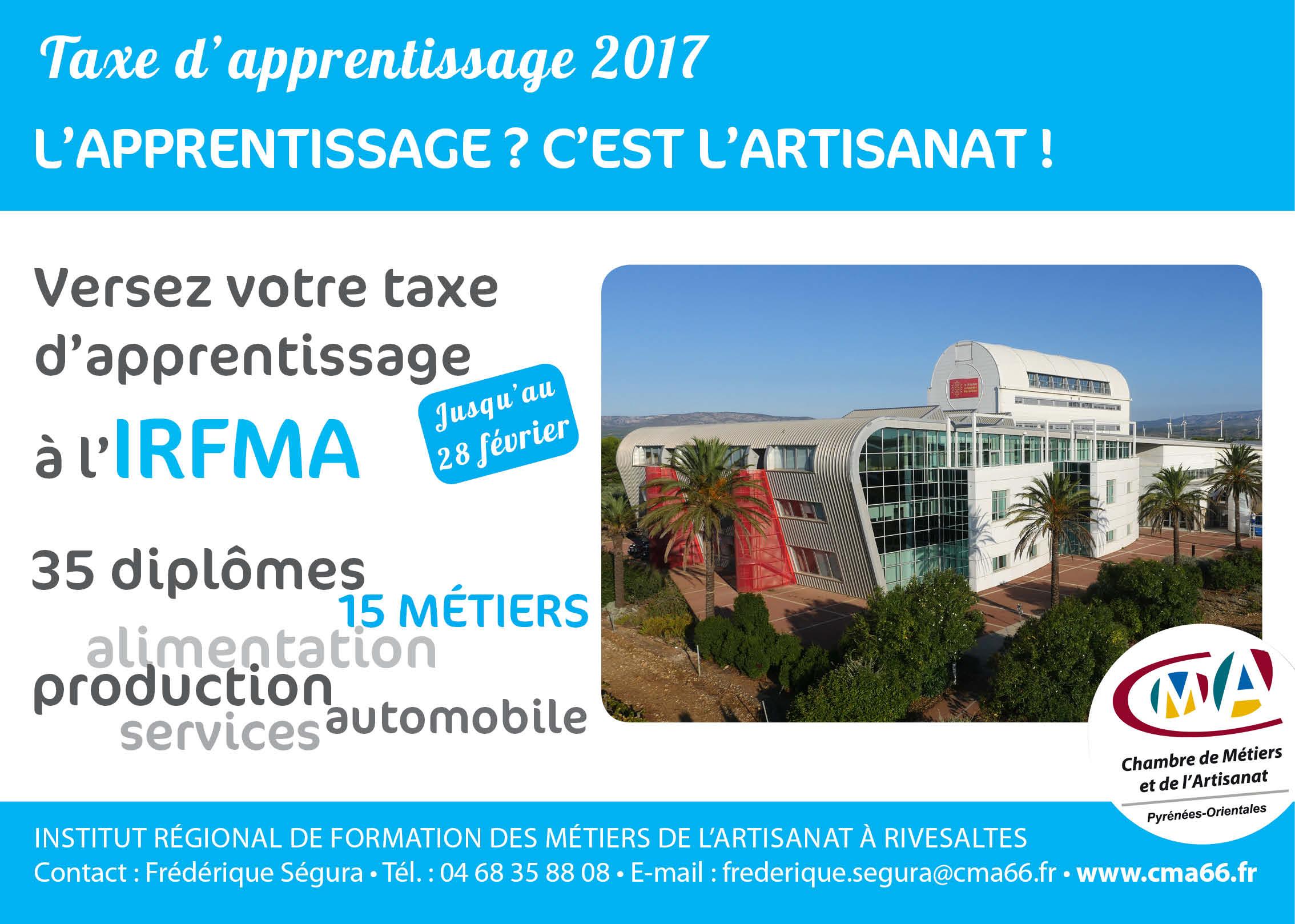 Taxe d'apprentissage 2017 - Chambre de Métiers et de l ...