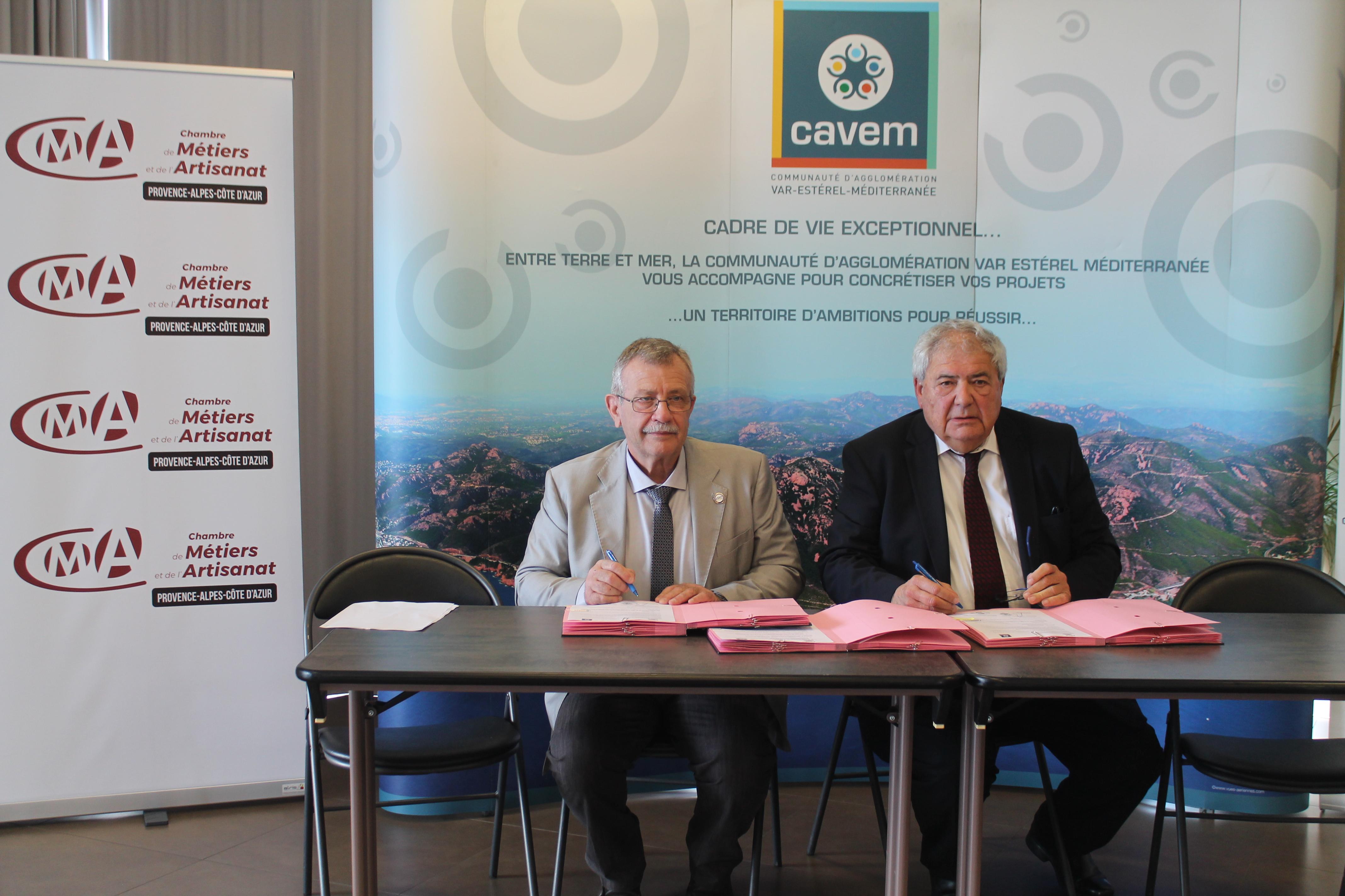 La délégation Var de la Chambre de métiers signe une convention avec ...