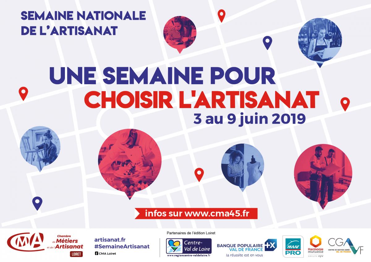 SEMAINE NATIONALE DE L'ARTISANAT 2019 | www.cma45.fr