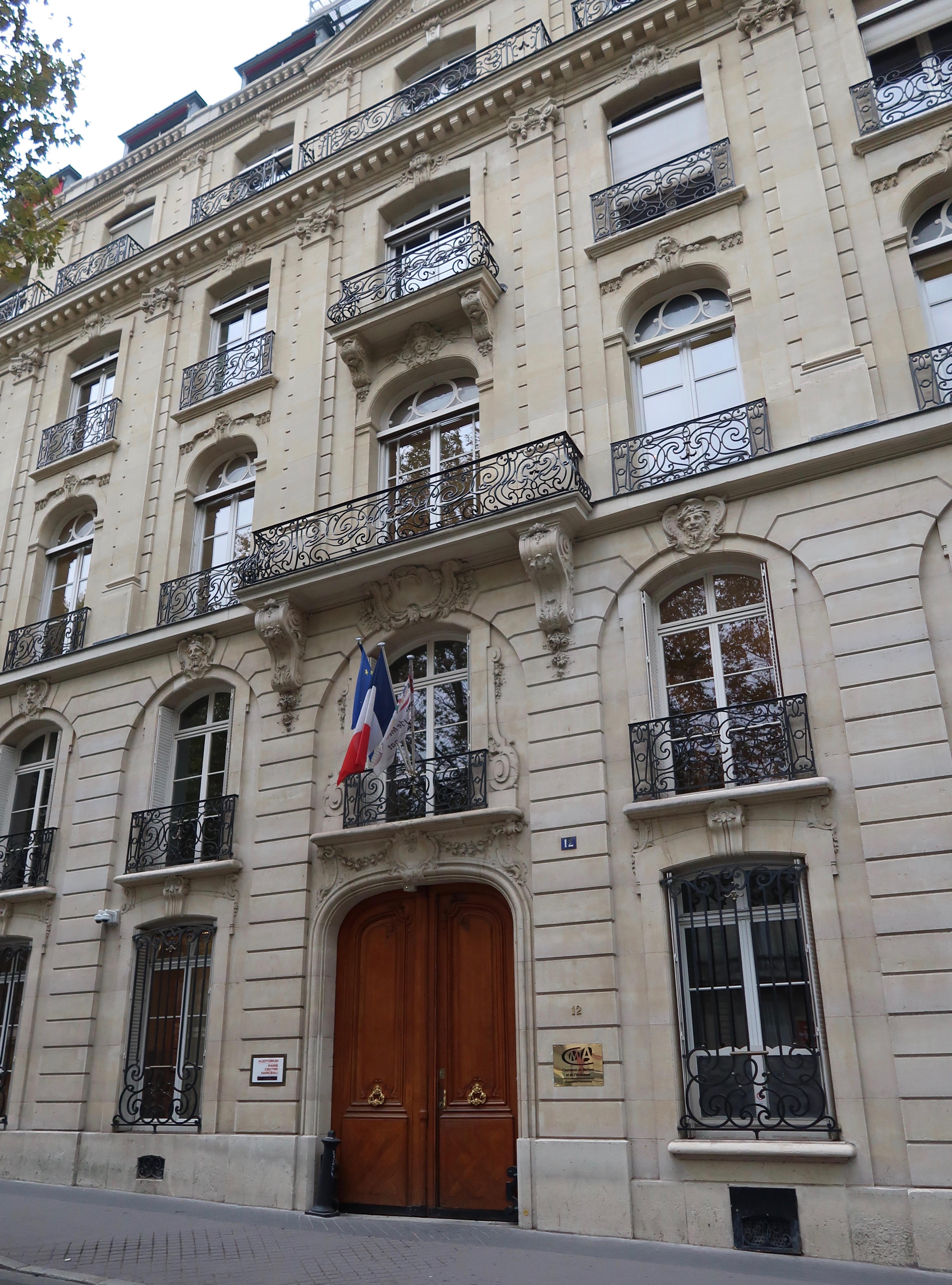 File:Chambre de métiers et de l'artisanat, 12 avenue Marceau ...