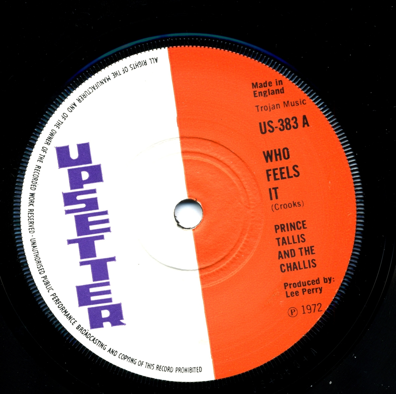 Prince Tallis The Challis - Who Feels It / Upsetters - Chapter 2