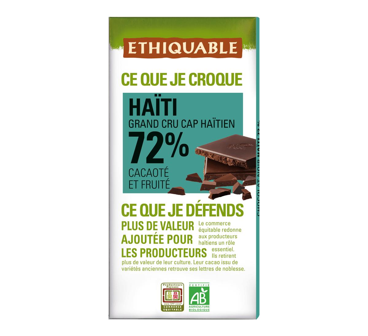 Chocolat noir 72% Haïti