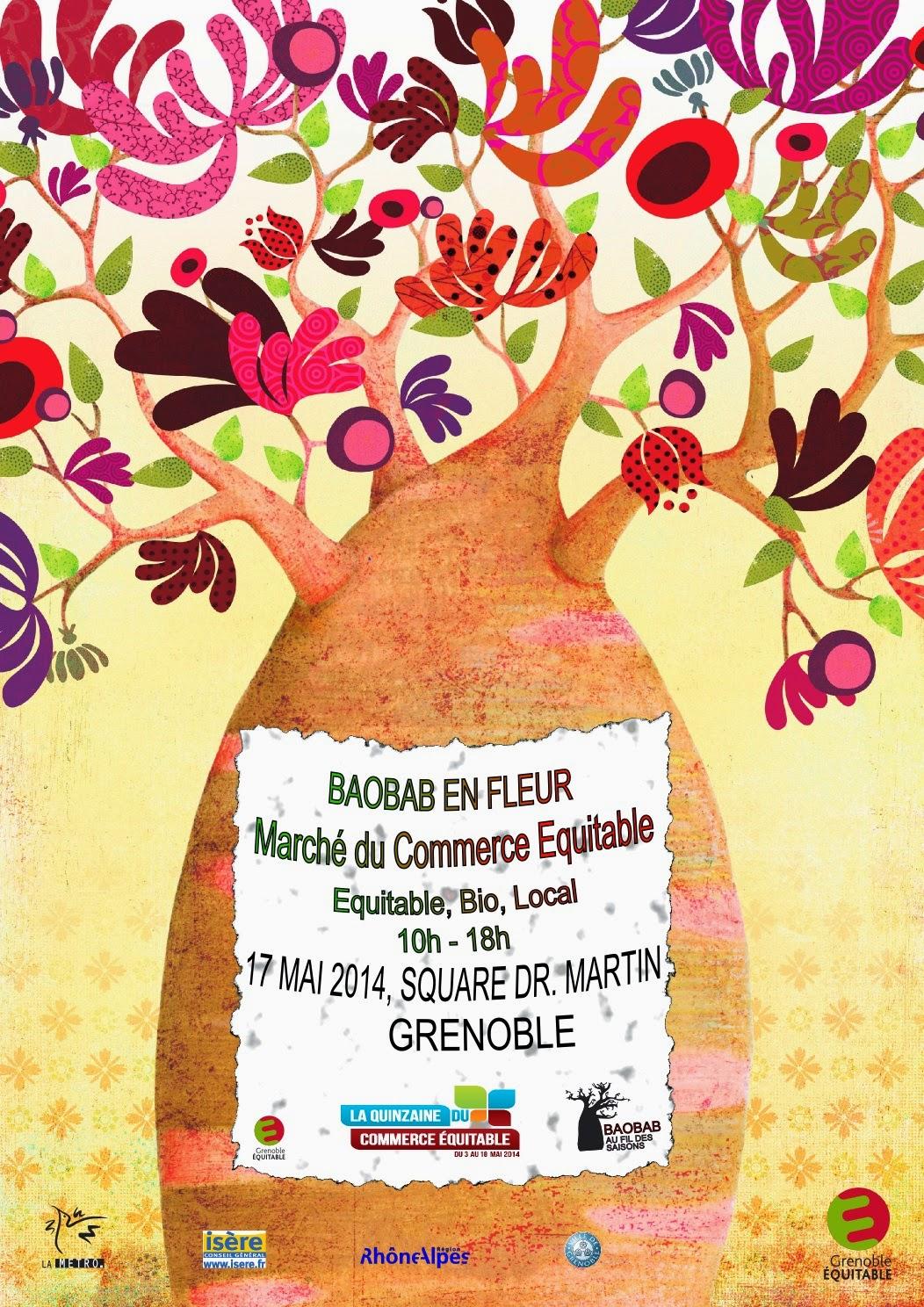Green in Grenoble: Marché du Baobab en fleur