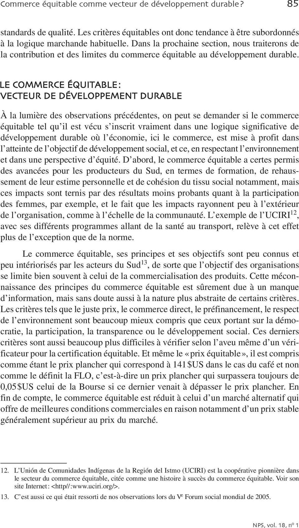 Commerce équitable comme vecteur de développement durable?» - PDF