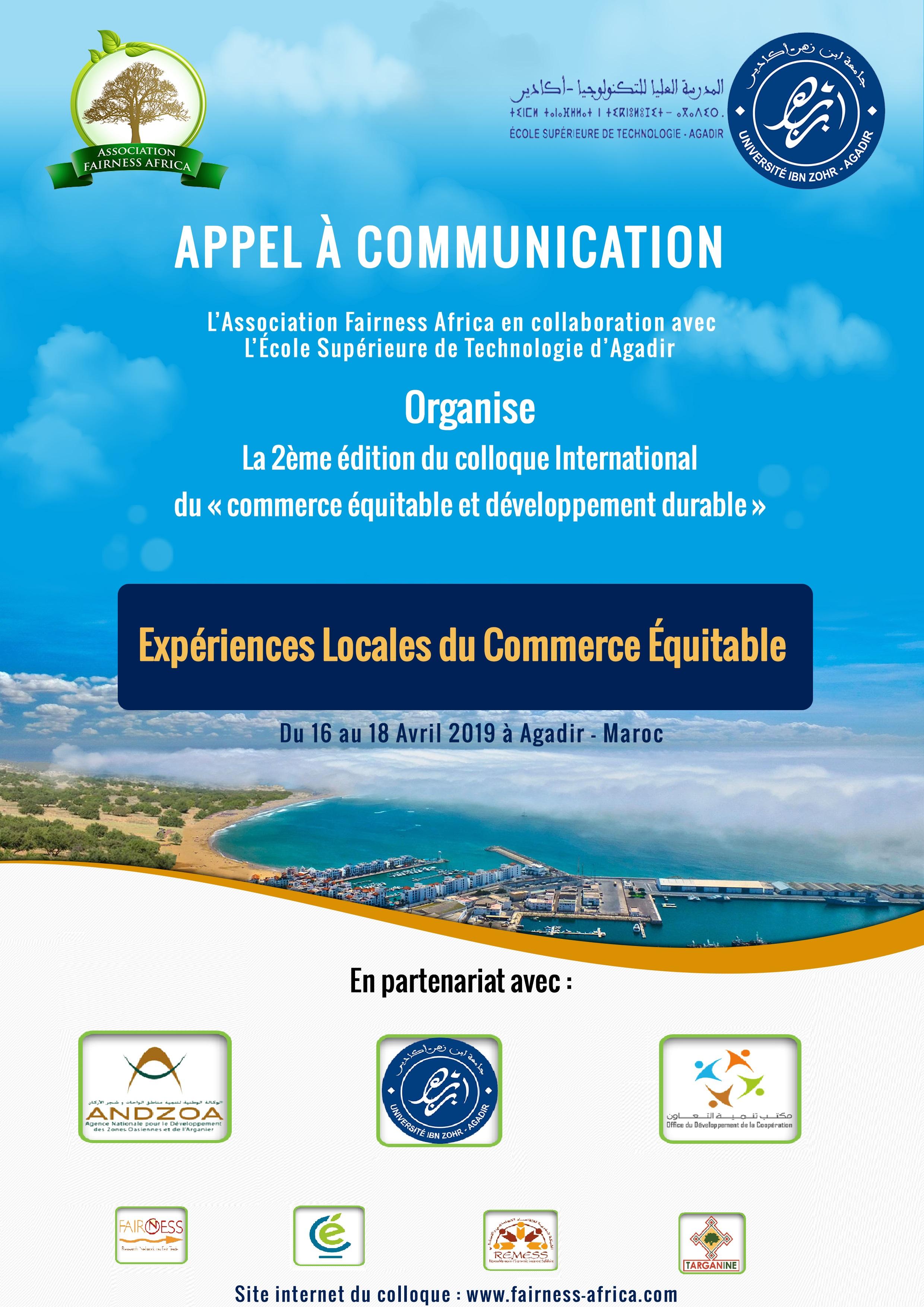 Colloque International « Commerce Equitable et Développement Durable ...