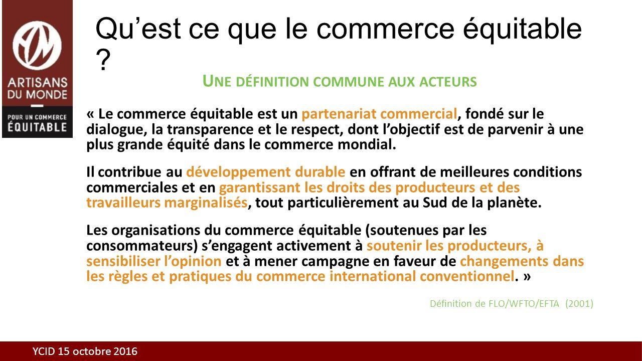 Le commerce équitable et Artisans du Monde Christian Bonnal YCID 15 ...