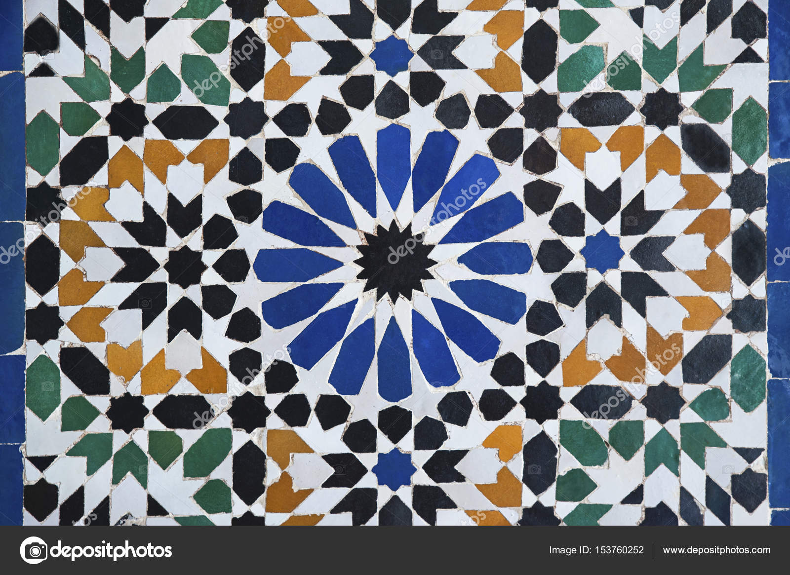 Carrelage marocain ou zellige de fond Abstrait dessins complexes ...