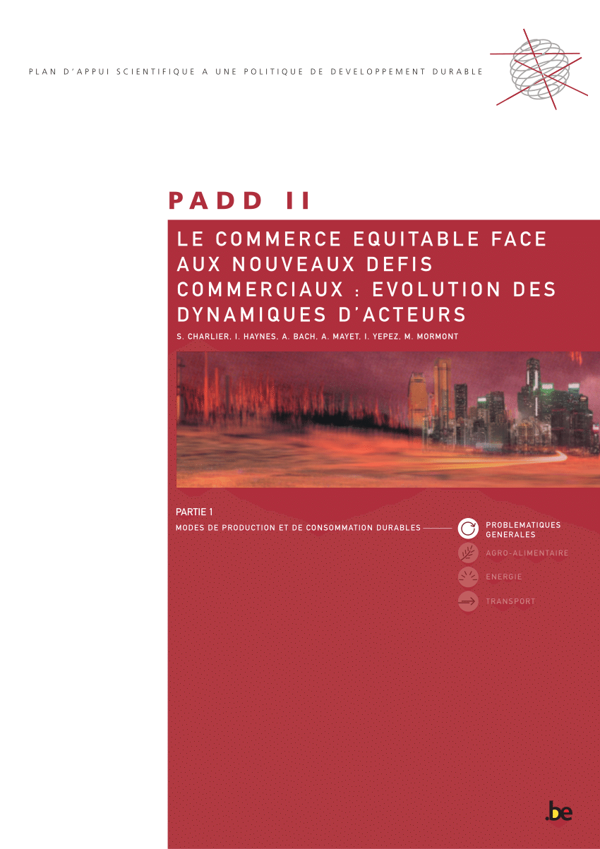 PDF) Le commerce équitable face aux nouveaux défis ...