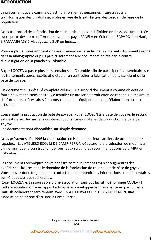 LA PRODUCTION DE SUCRE ARTISANAL Le sucre de canne rendu aux paysans ...