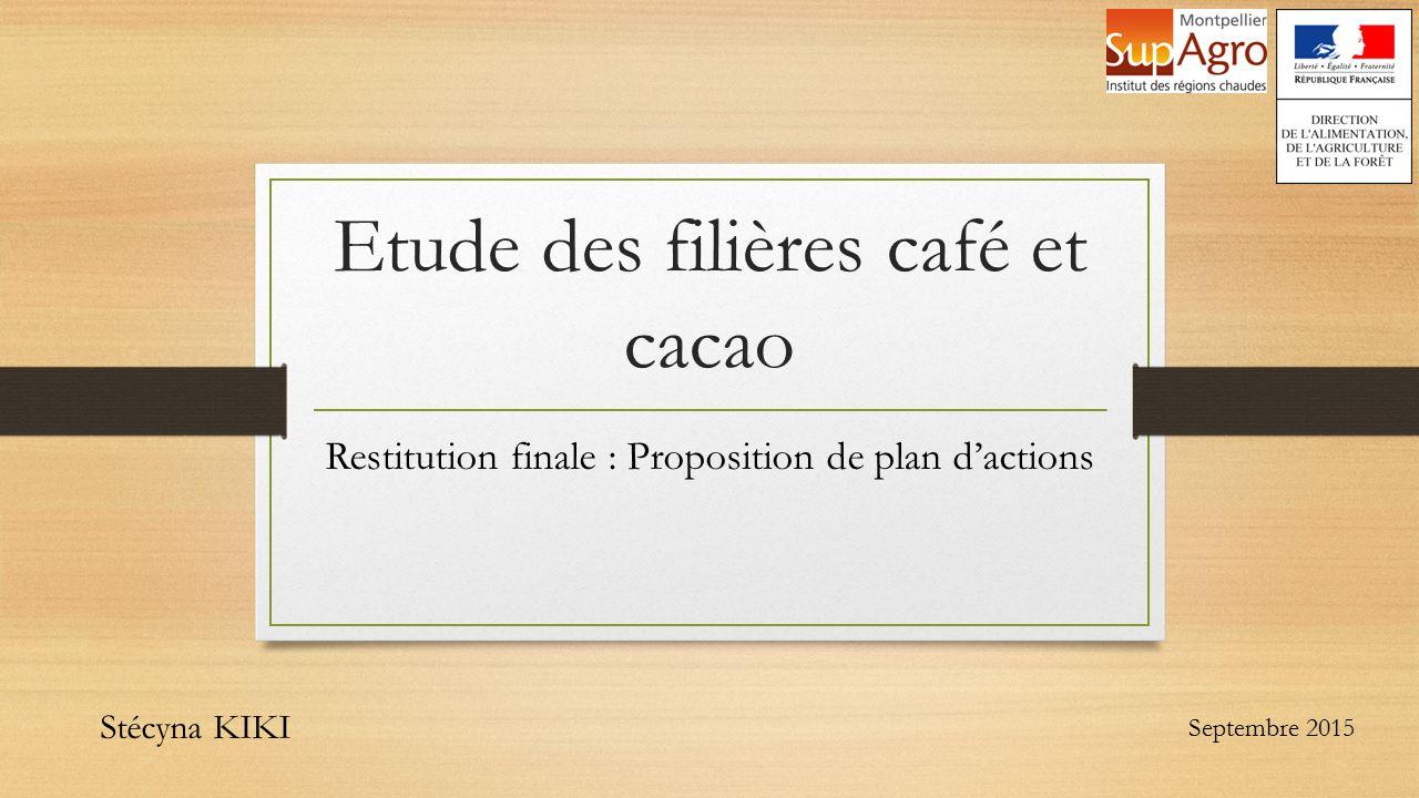 Etude des filières café et cacao - ppt télécharger
