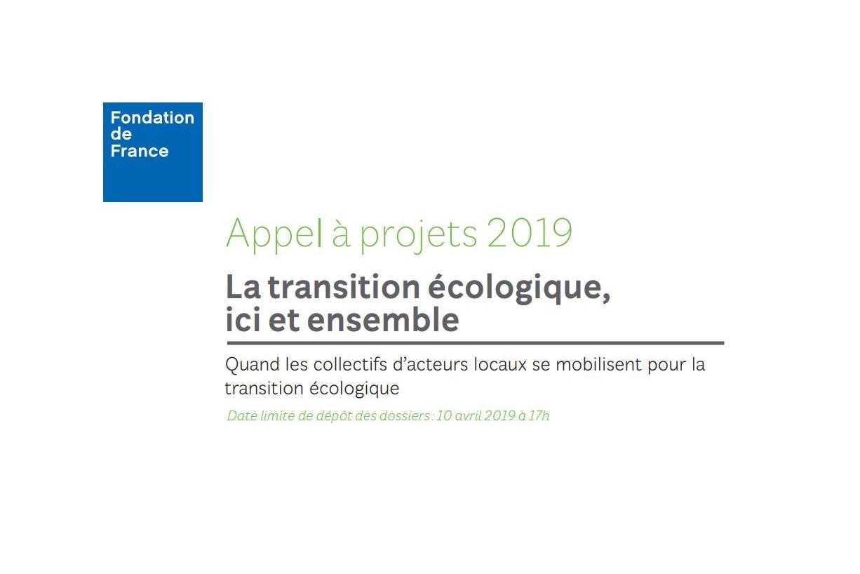 Appel à projets - La transition écologique, ici et ensemble ...